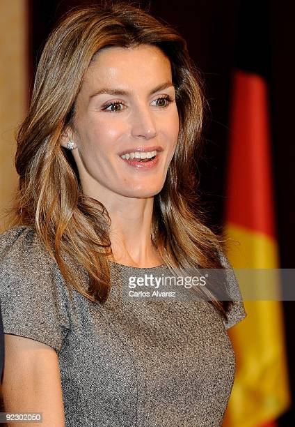 Princess Letizia of Spain receives in audience guests of Prince of Asturias Awards 2009 at the Reconquista Hotel on October 23 2009 in Oviedo Spain