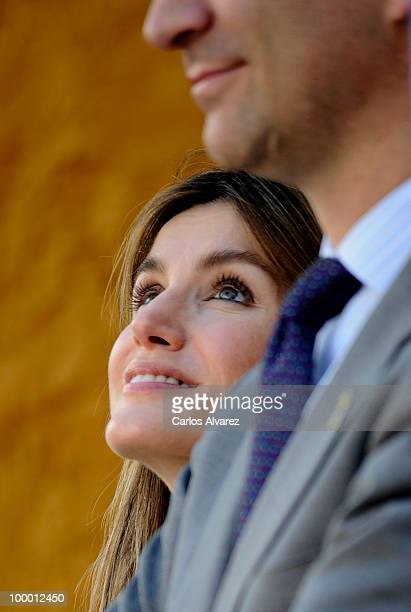 Princess Letizia of Spain visits 'Infanta Leonor' school on May 20 2010 in Castrillon Asturias Spain