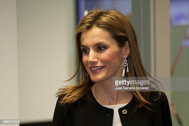 Princess Letizia of Spain visits new EFE Agency headquarters at EFE Agency on February 13 2014 in Madrid Spain