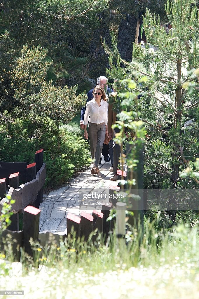 Princess Letizia of Spain visits the new National Park of Sierra de Guadarrama on July 10, 2013 in Rascafria, near of Madrid, Spain.
