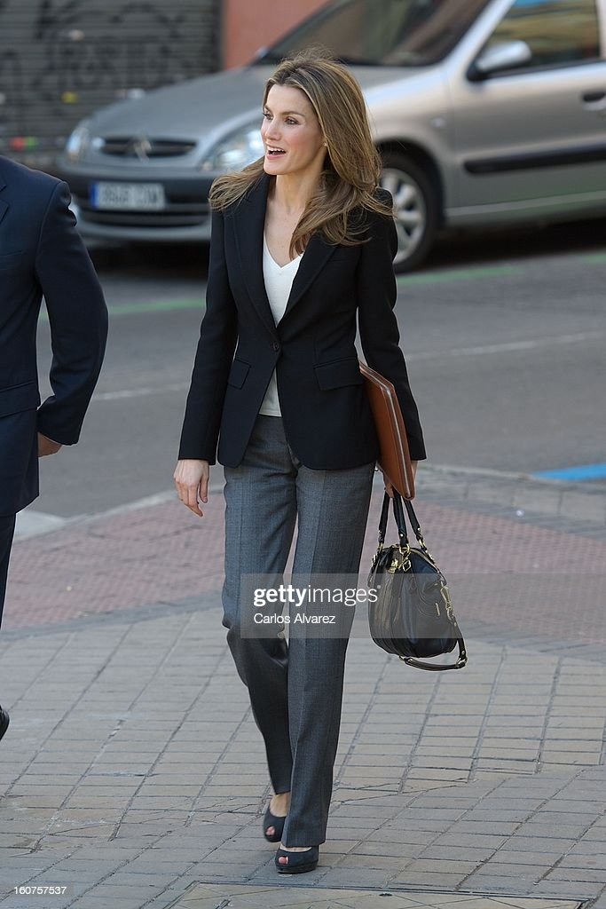 Princess <a gi-track='captionPersonalityLinkClicked' href=/galleries/search?phrase=Letizia+of+Spain&family=editorial&specificpeople=158373 ng-click='$event.stopPropagation()'>Letizia of Spain</a> visits the Rare Diseases Spanish Federation on February 5, 2013 in Madrid, Spain.