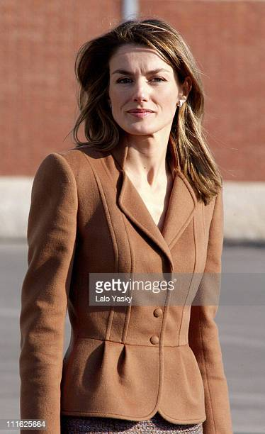 Princess Letizia presides over the departure of the Navy ship 'Galicia' with help to the victims of the tsunami in Asia