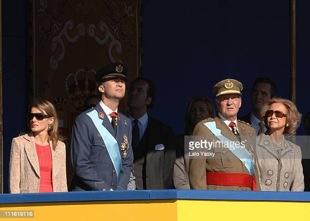 Princess Letizia Prince Felipe King Juan Carlos and Queen Sofia
