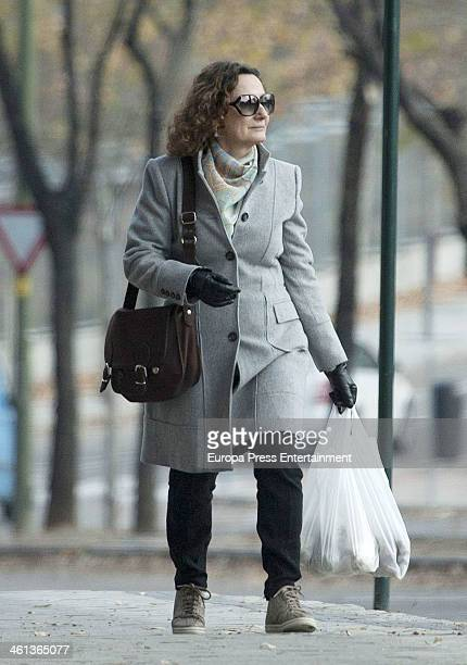 Princess Letizia's mother Paloma Rocasolano is seen on January 7 2014 in Madrid Spain
