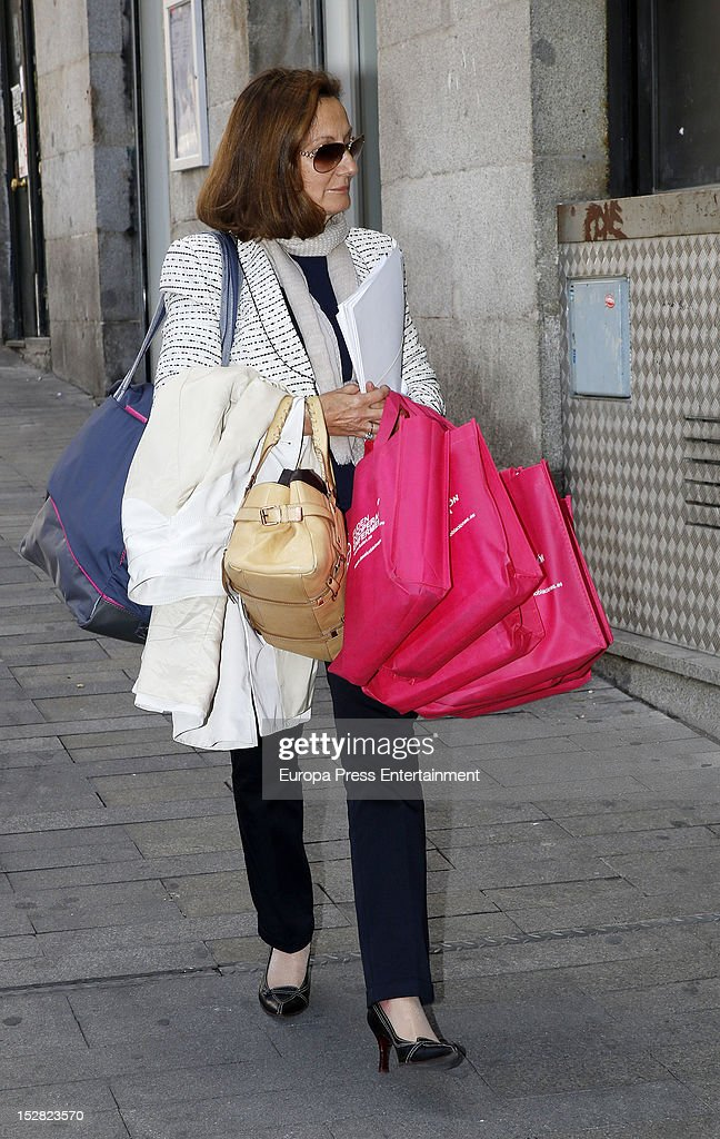 Princess Letizia's mother Paloma Rocasolano is seen on September 26, 2012 in Madrid, Spain.
