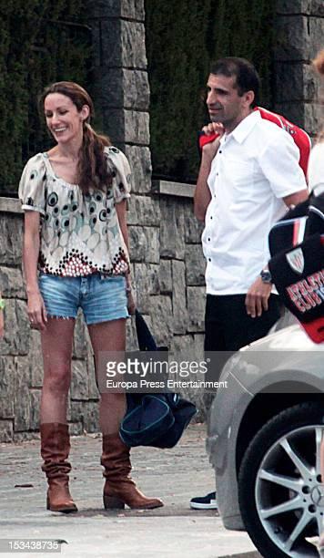Princess Letizia's sister Telma Ortiz and Formula 1 driver Marc Gene are seen on September 13 2012 in Barcelona Spain