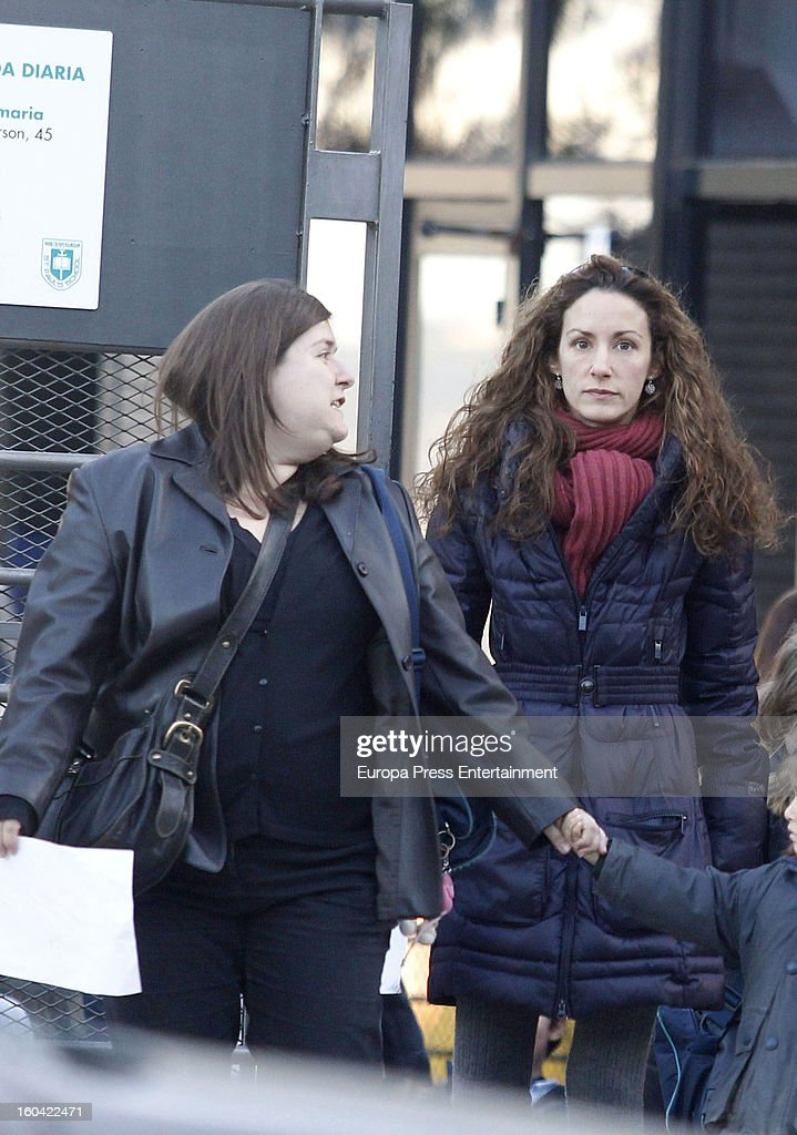Princess Letizia's sister <a gi-track='captionPersonalityLinkClicked' href=/galleries/search?phrase=Telma+Ortiz&family=editorial&specificpeople=771150 ng-click='$event.stopPropagation()'>Telma Ortiz</a> (R) is seen on January 30, 2013 in Barcelona, Spain.