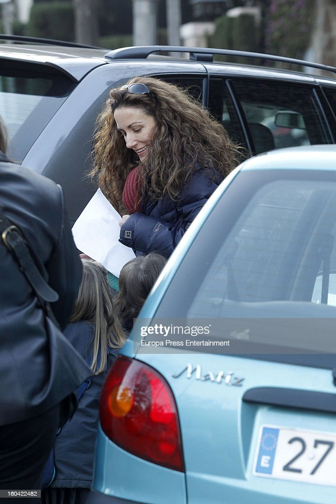 Princess Letizia's sister <a gi-track='captionPersonalityLinkClicked' href=/galleries/search?phrase=Telma+Ortiz&family=editorial&specificpeople=771150 ng-click='$event.stopPropagation()'>Telma Ortiz</a> is seen on January 30, 2013 in Barcelona, Spain.