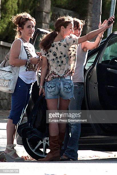 Princess Letizia's sister Telma Ortiz is seen on September 13 2012 in Barcelona Spain