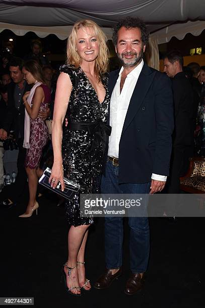 Princess Lilly zu Sayn Wittgenstein Berleburg and Remo Ruffini attend the Roberto Cavalli yacht party at the 67th Annual Cannes Film Festival on May...