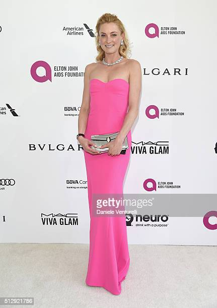 Princess Lilly zu Sayn Wittgenstein Berleburg wearing Bulgari attends Bulgari at the 24th Annual Elton John AIDS Foundation's Oscar Viewing Party at...