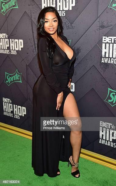 Princess Love attends 2015 BET Hip Hop Awards at Boisfeuillet Jones Atlanta Civic Center on October 9 2015 in Atlanta Georgia