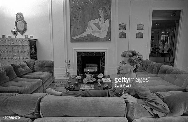 Princess Luciana Pignatelli at home on April 11 1977 in New York New York