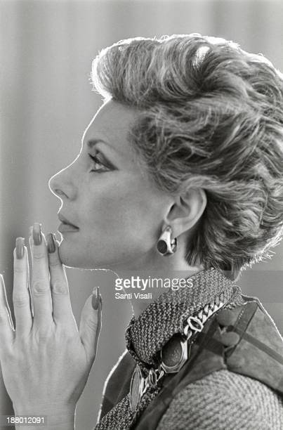 Princess Luciana Pignatelli posing for a photo on July 7 1977 in New York New York