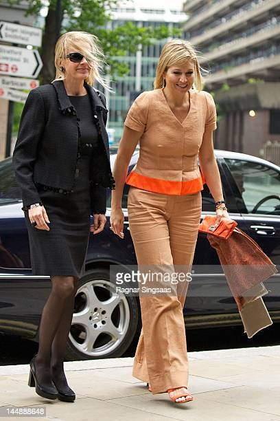 Princess Mabel of the Netherlands and Princess Maxima of the Netherlands attend concert with the Dutch Royal Concertgebouw Orchestra at Barbican...