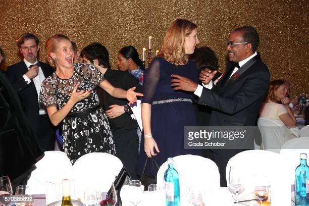 H Princess Mabel von OranienNassau Mabel Wisse Smit widow of Prince Johan Friso von OranienNassau dances Michel Sidibe Unaids Executive Director...