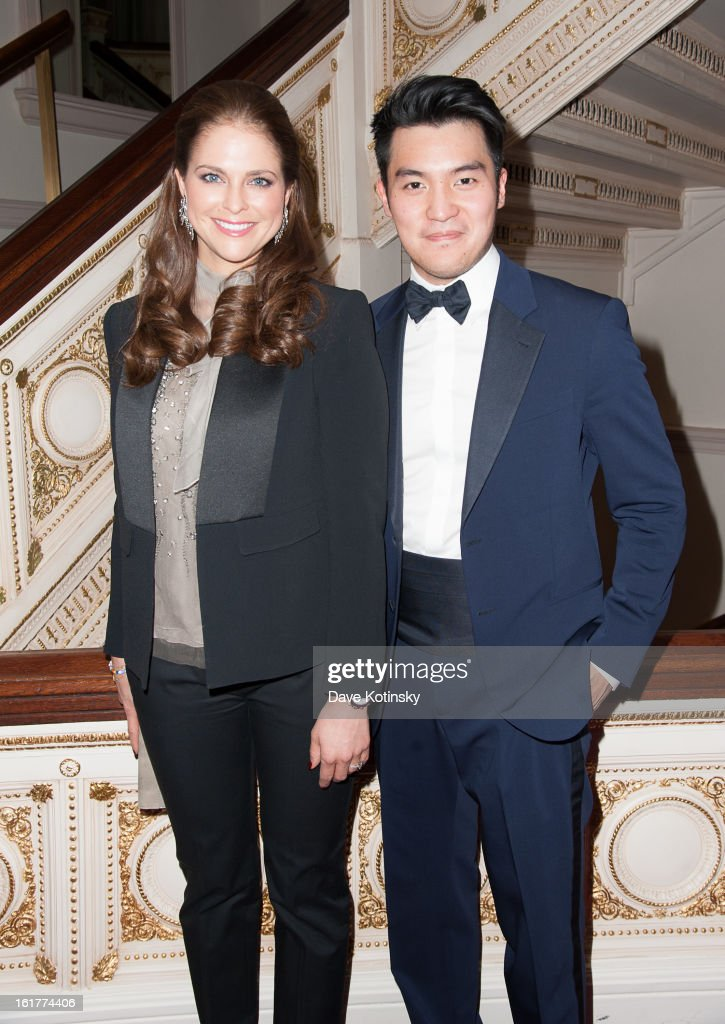 Princess Madeleine and Concert violin soloist Ray Chen attends Stockholm Concert Hall Foundation Presents: The Royal Stockholm Philharmonic Orchestra at Carnegie Hall on February 15, 2013 in New York City.