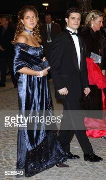 Princess Madeleine and Prince Carl Phillip of Sweden attend a dinner and party at the Royal Palace in honor of the wedding of Dutch Crown Prince...