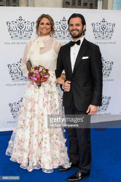 Princess Madeleine and Prince Carl Phillip of Sweden attend an award ceremony for the Polar Music Prize at Konserthuset on June 15 2017 in Stockholm...