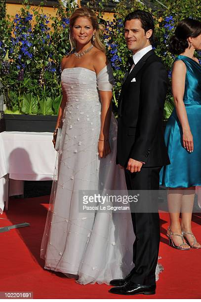 Princess Madeleine from Sweden and Prince Carl Philip from Sweden attend the Government PreWedding Dinner for Crown Princess Victoria of Sweden and...