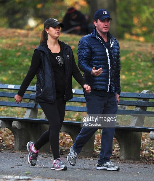 Princess Madeleine of Sweden and Chris O'Neill are seen in Central Park on November 4 2013 in New York City