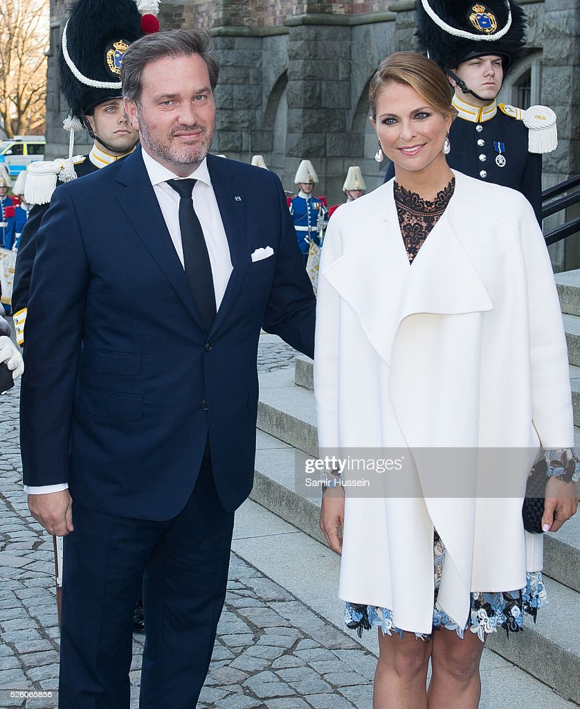<a gi-track='captionPersonalityLinkClicked' href=/galleries/search?phrase=Princess+Madeleine+of+Sweden&family=editorial&specificpeople=160243 ng-click='$event.stopPropagation()'>Princess Madeleine of Sweden</a> and <a gi-track='captionPersonalityLinkClicked' href=/galleries/search?phrase=Christopher+O%27Neill+-+Husband+of+Princess+Madeleine&family=editorial&specificpeople=7470611 ng-click='$event.stopPropagation()'>Christopher O'Neill</a> arrive to the Nordic Museum to attend a concert of the Royal Swedish Opera and Stockholm Concert Hall to celebrate the 70th birthday of King Carl Gustaf of Sweden on April 29, 2016 in Stockholm, Sweden.
