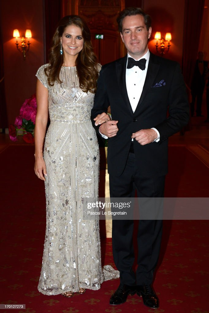 <a gi-track='captionPersonalityLinkClicked' href=/galleries/search?phrase=Princess+Madeleine+of+Sweden&family=editorial&specificpeople=160243 ng-click='$event.stopPropagation()'>Princess Madeleine of Sweden</a> and <a gi-track='captionPersonalityLinkClicked' href=/galleries/search?phrase=Christopher+O%27Neill+-+Husband+of+Princess+Madeleine&family=editorial&specificpeople=7470611 ng-click='$event.stopPropagation()'>Christopher O'Neill</a> attend a private dinner on the eve of the wedding of Princess Madeleine and <a gi-track='captionPersonalityLinkClicked' href=/galleries/search?phrase=Christopher+O%27Neill+-+Husband+of+Princess+Madeleine&family=editorial&specificpeople=7470611 ng-click='$event.stopPropagation()'>Christopher O'Neill</a> hosted by King Carl XVI Gustaf and Queen Silvia at The Grand Hotel on June 7, 2013 in Stockholm, Sweden.