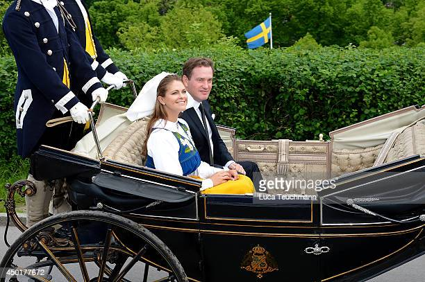 Princess Madeleine of Sweden and Christopher O'Neill attend the National Day Celebrations on June 6 2014 in Stockholm Sweden