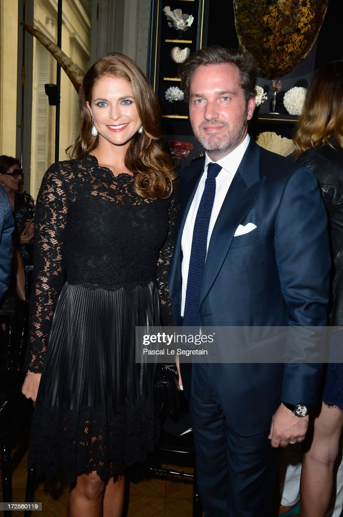 Princess Madeleine of Sweden and Christopher O'Neill attend the Valentino show as part of Paris Fashion Week HauteCouture Fall/Winter 20132014 at...