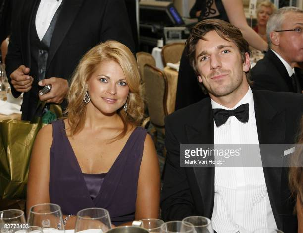 Princess Madeleine of Sweden and hockey player Henrik Lundqvist pose for a picture at the Mentor Foundation Royal Gala at the Waldorf Astoria on...