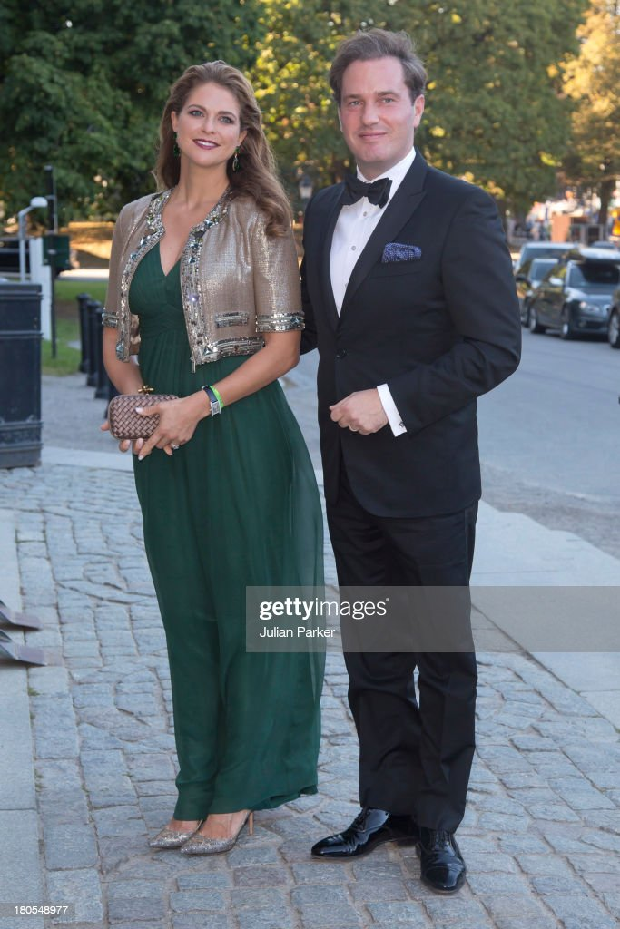 Princess Madeleine of Sweden and husband <a gi-track='captionPersonalityLinkClicked' href=/galleries/search?phrase=Christopher+O%27Neill&family=editorial&specificpeople=7470611 ng-click='$event.stopPropagation()'>Christopher O'Neill</a> attend the Swedish Government dinner to celebrate King Carl Gustaf's 40th Jubilee at Nordiska Museum on September 14, 2013 in Stockholm, Sweden.