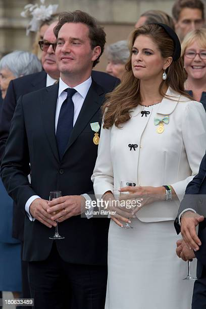 Princess Madeleine of Sweden and husband Christopher O'Neill attend the city of Stockholm's celebrations for King Carl Gustaf's 40th jubilee at the...