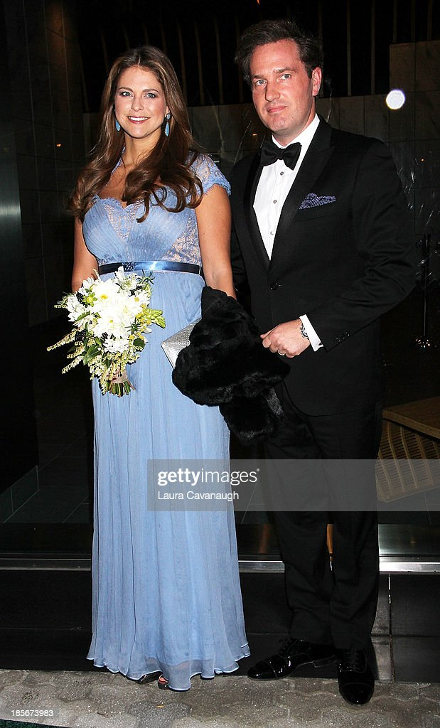 Princess Madeleine of Sweden and husband <a gi-track='captionPersonalityLinkClicked' href=/galleries/search?phrase=Christopher+O%27Neill&family=editorial&specificpeople=7470611 ng-click='$event.stopPropagation()'>Christopher O'Neill</a> attend the 2013 New York Green Summit and royal gala award dinner at Apella on October 23, 2013 in New York City.