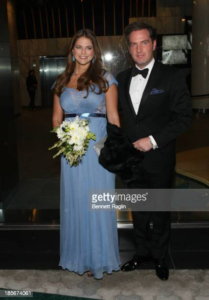 Princess Madeleine of Sweden and husband Christopher O'Neill attend the 2013 New York Green Summit and royal gala award dinner at Apella on October...