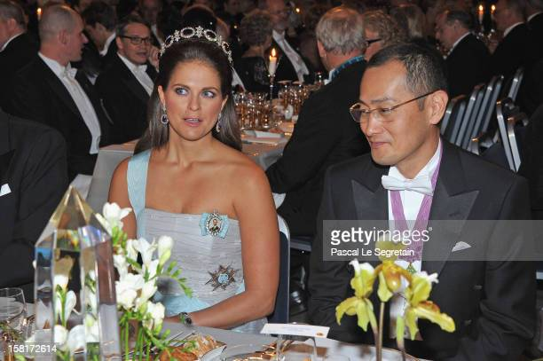 Princess Madeleine of Sweden and Nobel Prize in Medicine laureate Professor Shinya Yamanaka of Japan attend the Nobel Banquet at Town Hall on...