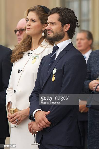 Princess Madeleine of Sweden and Prince Carl Philip of Sweden attend the City Of Stockholm Celebrations during King Carl Gustaf's 40th Jubilee on the...