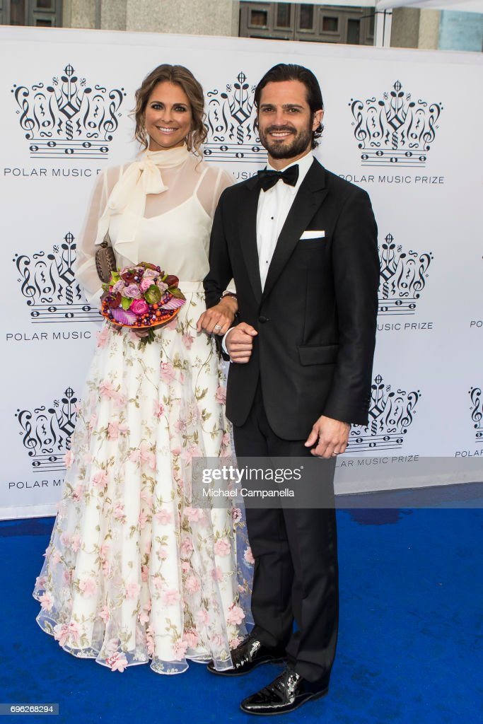 Princess Madeleine of Sweden and Prince Carl Philip of Sweden attend Polar Music Prize on June 15, 2017 in Stockholm, Sweden.