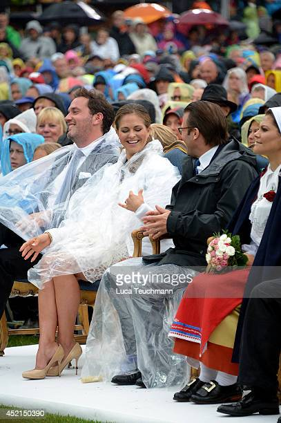 Princess Madeleine of Sweden and Prince Daniel Duke of Vastergotland attend the Victoria Day celebrations on the Crown Princess's 37th Birthday at...