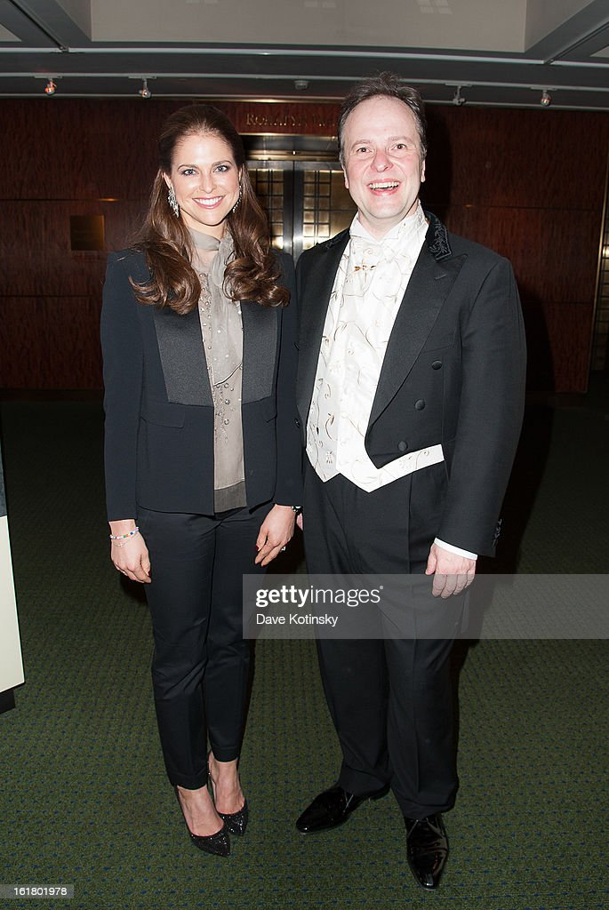 <a gi-track='captionPersonalityLinkClicked' href=/galleries/search?phrase=Princess+Madeleine+of+Sweden&family=editorial&specificpeople=160243 ng-click='$event.stopPropagation()'>Princess Madeleine of Sweden</a> and Sakari Oramo attend Stockholm Concert Hall Foundation Presents: The Royal Stockholm Philharmonic Orchestra at Carnegie Hall on February 15, 2013 in New York City.