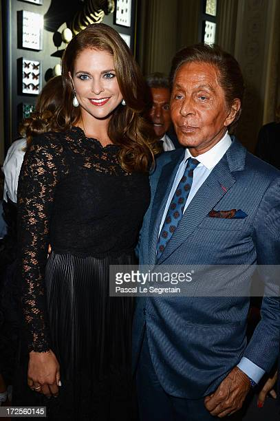 Princess Madeleine of Sweden and Valentino Garavani attend the Valentino show as part of Paris Fashion Week HauteCouture Fall/Winter 20132014 at...