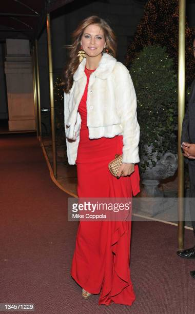 H Princess Madeleine of Sweden arrives at the American Scandinavian Society's 2011 Yule ball at the Metropolitan Club on December 2 2011 in New York...