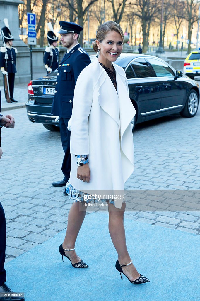 Princess Madeleine of Sweden arrives for a Concert at the Nordic Museum, on the eve of King Carl Gustaf of Sweden's 70th Birthday, given by The Royal Swedish Opera, and The Stockholm Concert Hall, on April 29, 2016, in Stockholm, Sweden.