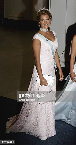 Princess Madeleine of Sweden arrives for the Gala Dinner at Royal Palace to celebrate King Carl XVI Gustaf of Sweden's 60th birthday on April 30 2006...