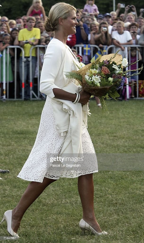 Princess Madeleine of Sweden arrives to attend the Princess Victoria's Birthday concert on July 14 2006 in Borgholm Sweden