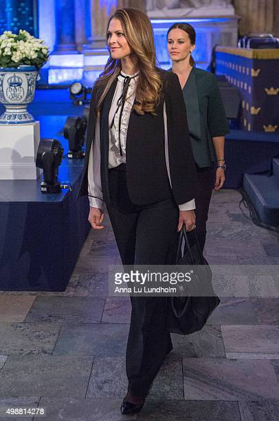 Princess Madeleine of Sweden attend the Global Child Forum at the Hall of State in the Royal Palace on November 26 2015 in Stockholm Sweden