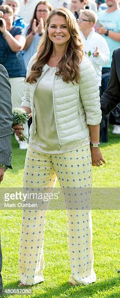 Princess Madeleine of Sweden attends a concert at the 38th birthday celebrations for Crown Princess Victoria on July 14 2015 in Oland Sweden