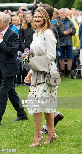 Princess Madeleine of Sweden attends a concert at the 39th birthday celebrations for Crown Princess Victoria on July 14 2016 in Oland Sweden