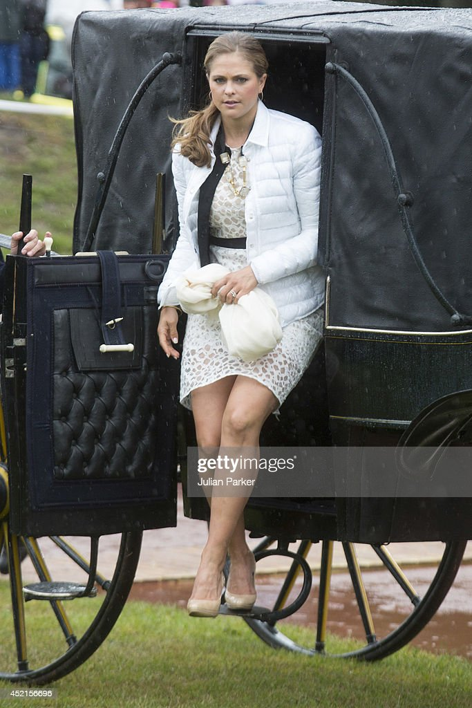 Princess Madeleine of Sweden attends a concert in Borgholm, to celebrate the 37th Birthday of Crown Princess Victoria of Sweden on July 14, 2014 in Oland, Sweden.