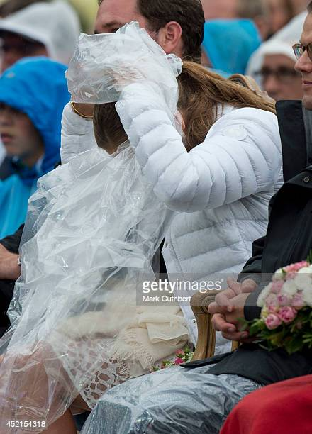 Princess Madeleine of Sweden attends a concert to celebrate the 37th birthday of Crown Princess Victoria of Sweden at Borgholm on July 14 2014 in...
