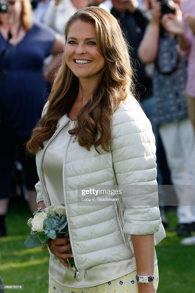Princess Madeleine of Sweden attends a concert to celebrate the 38th birthday of Crown Princess Victoria of Sweden at Borgholmon July 14, 2015 in Oland, Sweden.